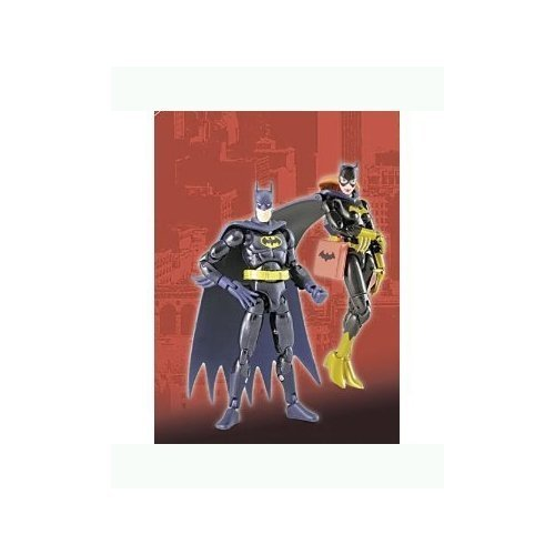 (Microman Micro Action Series Batman & Batgirl 4 inch Action Figure 2-Pack by Takara)