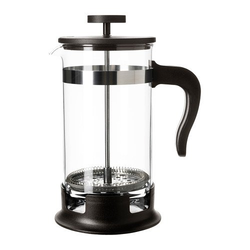 IKEA French Press 34oz (1-Liter, 8 cups Coffee / Tea maker)-Glass & Stainless Steel.