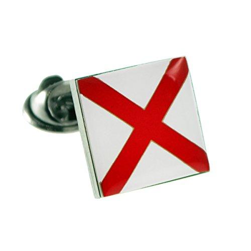 USA American Alabama State Flag Lapel Pin Badge
