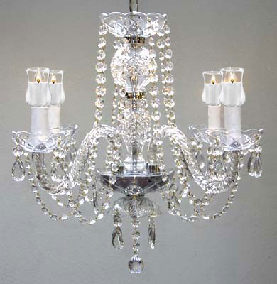MURANO VENETIAN STYLE CHANDELIER LIGHTING WITH CANDLE VOTIVES! H 25″ W 24″ – For Indoor / Outdoor Use! Great for Outdoor Events, Hang from Trees / Gazebo / Pergola / Porch / Patio / Tent !