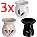 BARGAINS-GALORE 3 X OIL BURNER FRAGRANCE WARMER GRANULES WAX MELT AROMA HOME SCENT RELAX GIFT