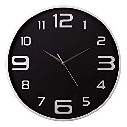 18 Silver and Black Wall Clock