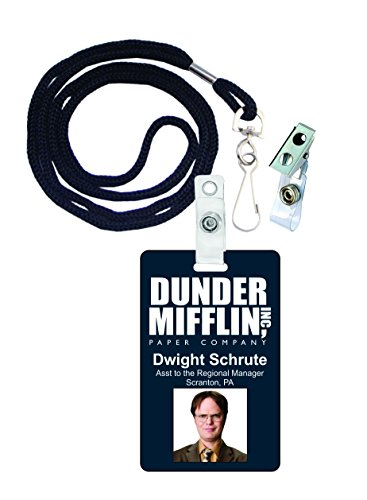 Dwight Schrute The Office Novelty ID Badge Film Prop for Costume and Cosplay • Halloween and Party Accessories -