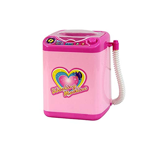 - 2019 New! Cute Sticker Makeup Brush Cleaner Device Automatic Cleaning Washing Machine Mini Toy (C)