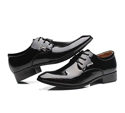 UPS Gaorui Wedding Black Shoes Shoes Business Men's Lace rrwBqxtEH