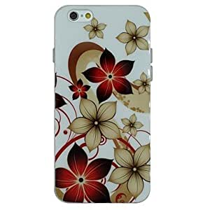 QYF Blooming Flowers Pattern TPU Soft Back Cover Case for iPhone 6