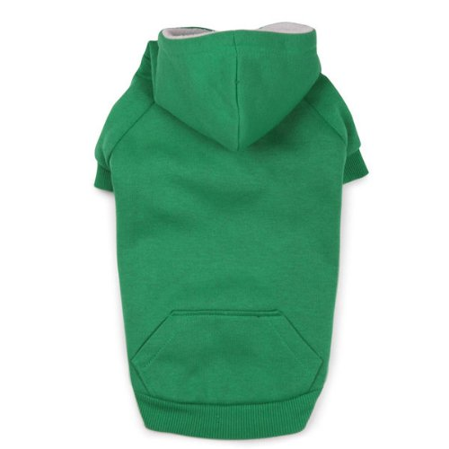 Zack and Zoey Polyester Fleece Lined Dog Hoodie, Medium, Green, My Pet Supplies