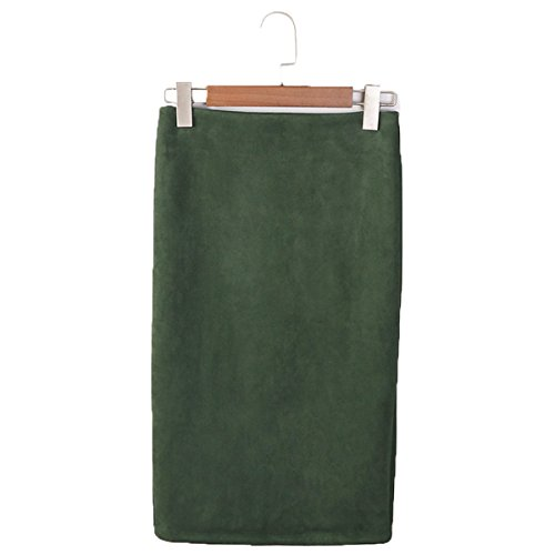 Jupe Haute Femmes Droite Vert Office Crayon Taille Jupe Midi Genou Jupe Bodycon t Jupe lasticit lgant Skirts en ShallGood tqO6dq