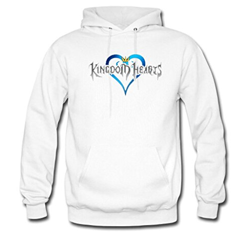Soothing Men's and Women's Unisex Custom Kingdom Hearts Classic Hoodie XL White