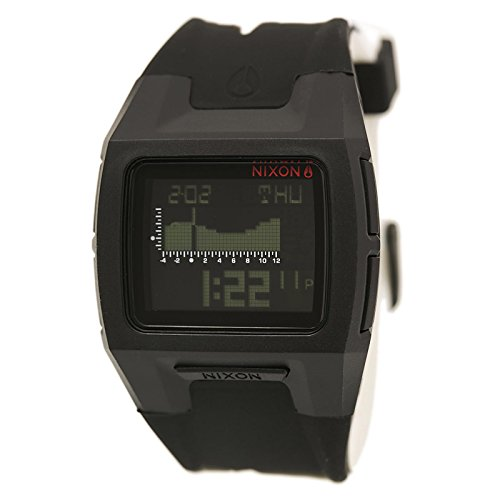 new-nixon-mens-lodown-silicone-watch-stainless-steel-soft-black