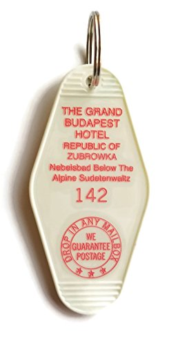 The Grand Budapest Hotel Room # 142 Republic of Zubrowka GBH Inspired Key Tag (The Best Grand Budapest Hotel)