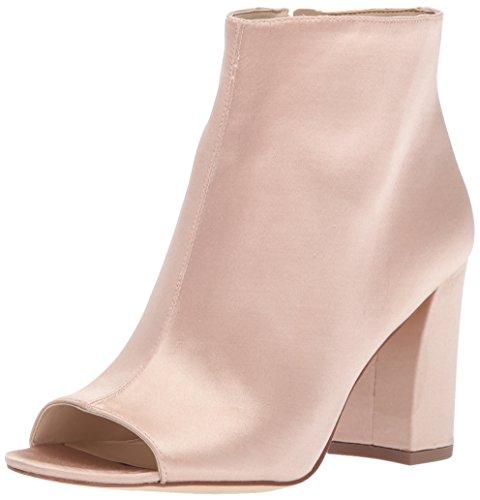 Nine West Women's Haywood Satin Ankle Boot, Light Natural, 9 Medium US