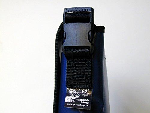 Schultertasche Skateboarder Skater Blau/Orange H 20, B 26, T 8cm