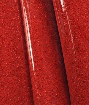 Ruby Red Sparkle Vinyl Fabric   By The Yard