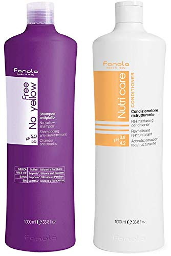Fanola Free No Yellow Vegan and Nutricare Package, 1000 ml