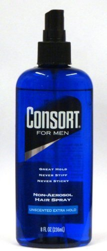 - Consort For Men Non-Aerosol Hair Spray Unscented Extra Hold, 8 oz (Pack of 3)