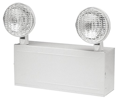 Hubbell DualLite Emergency Backup Lights - High Capacity Commercial Grade Halogen Black Out Light Fixture with Battery Backup 120/277 Volt - (Hubbell Emergency Light)