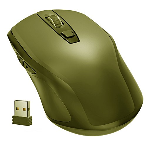 1a5fa9c4e28 Yantop 2.4G Slim Wireless Mouse with Nano Receiver, Noiseless and Silent  Click with 1600