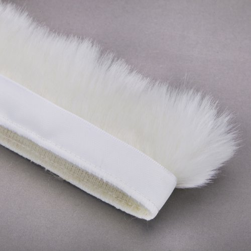 Neotrims Fake Faux Quality Fur Woolly Fringe Trimming, Satin Ribbon, For Costume, Crafts, Decoration. 10 Stunning Colours & 3 Sizes: 2.5, 5 & 10 cm. Beautiful Soft Handle. White Faux Fur Trim
