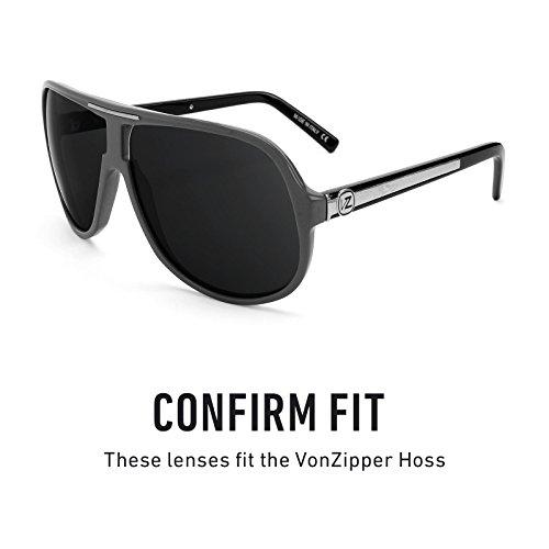 Verres de rechange pour Von Zipper Hoss — Plusieurs options Polarisés Elite Noir