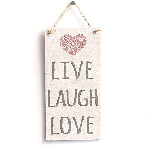 Meijiafei 'Live Laugh Love' - Cute Home Decor Sign - Rustic PVC Door Sign Plaque 10