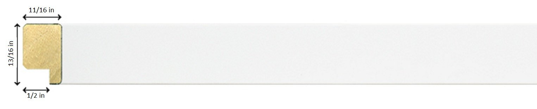 27x39 Modern White Wood Poster Frame, UV Acrylic Clear Sheet, Foam ...