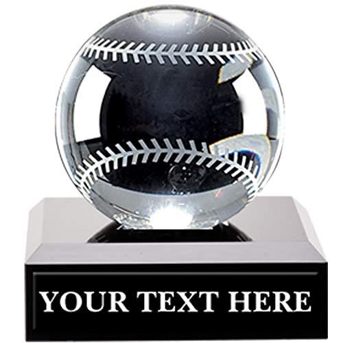 Crown Awards Crystal Baseball Trophies, 3