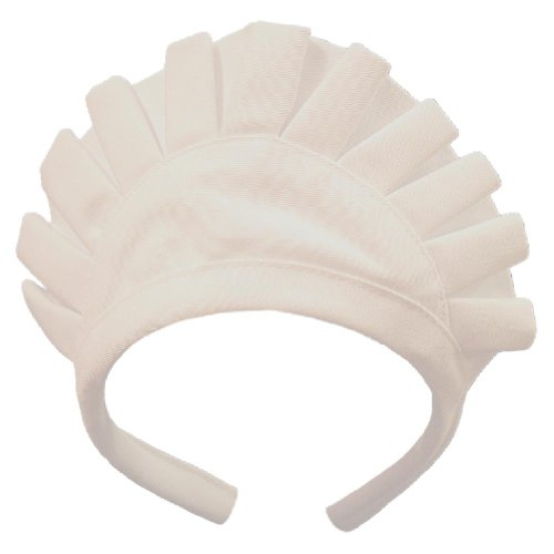 Authentic Maid Waitress Uniform White HeadPiece Cap Hat w/ Headband