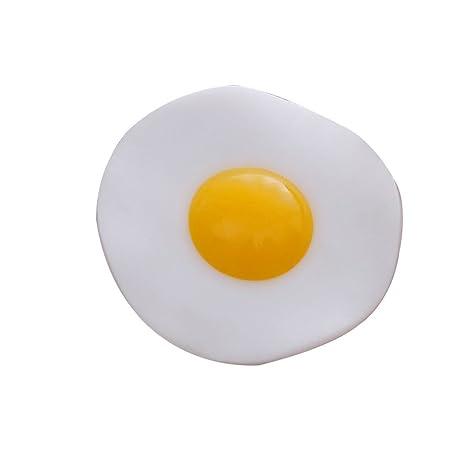 F-blue Precioso Huevo Frito aliviar el estrés Juguetes Tortilla antiestrés Curación relevación de presión Juguete para Adultos niños