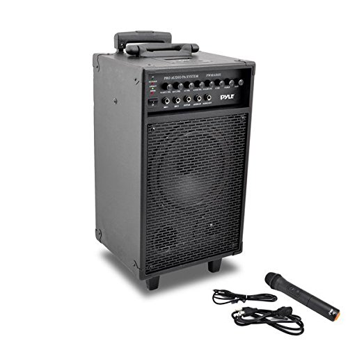 Pyle PWMA860i Wireless and Portable PA Speaker Sound System with 30-Pin iPod/iPhone Dock, Built-in Rechargeable Battery, Wireless Microphone, 500 Watt (Microphone Tweeter Pyle)