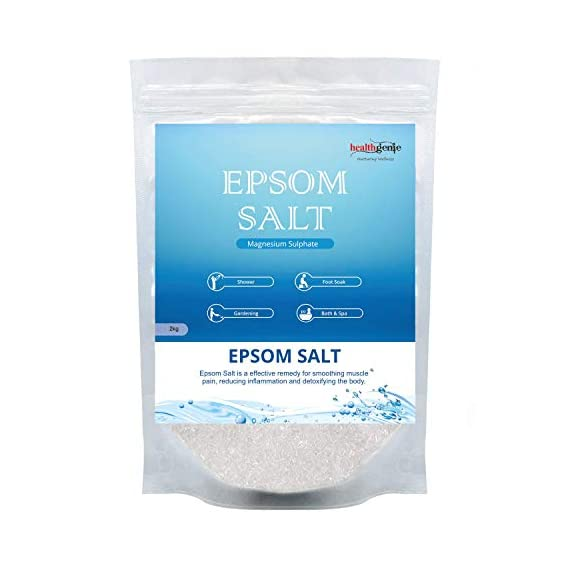 Healthgenie Epsom Salt for Relaxation and Pain Relief - 2kg