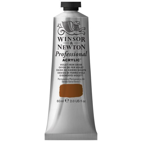 Violet Iron - Winsor & Newton Professional Acrylic Color Paint, 60ml Tube, Violet Iron Oxide