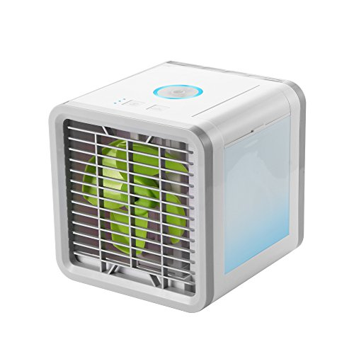 ALLOMN Personal Air Conditioner Fan, Mini Portable Space Air Cooler with Humidifier, Purifier and Refrigerator Function for Home, Office or Room Using