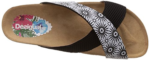 Bio Desigual Women's 2000 Black Black Megara Sandals 10 6qfqnT