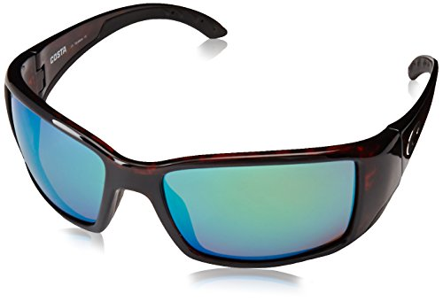 Costa Del Mar Blackfin Sunglasses, Tortoise, Green Mirror 580 Plastic - Costa Glass
