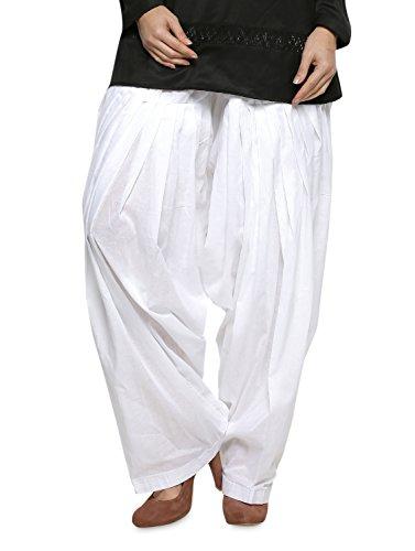 PlainPatialaSalwar Pants-100% Cotton-in Many Colours- Kameez Kurti Tunic Yoga Off - Kameez White Salwar Cotton Off