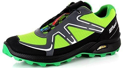Grisport , Scarpe da camminata ed escursionismo uomo Grigio grigio - Verde Chiusura Rapita, 47