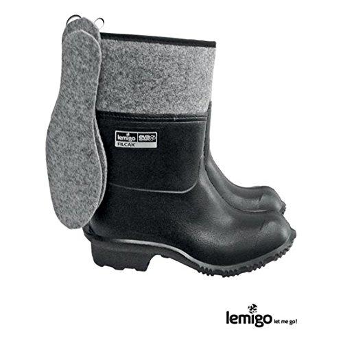Lemigo leichte Filzstiefel 45 schwarz Winterstiefel Arbeitsstiefel Gummistiefel Stiefel