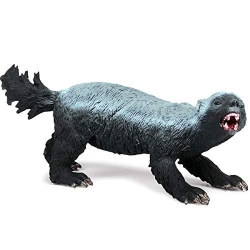 Kolobok – Safari Animals Action Figures – Honey Badger – Zoo Animals Educational Toys - Black