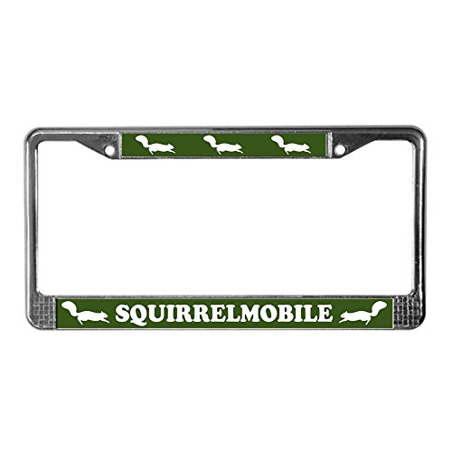 CafePress - Squirrelmobile License Plate Frame - Chrome License Plate Frame, License Tag Holder