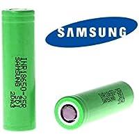 2 accus Samsung INR18650-25R 2500mAh 20A Hautes Performances