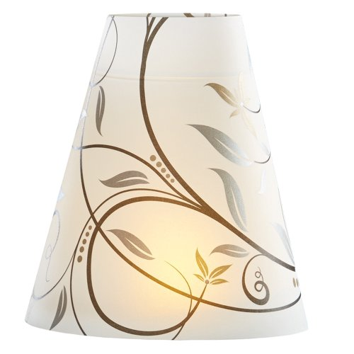 Hoffmaster 690103 Mystique Wine Glass Shade/Tea Light Combo, 4-3/8