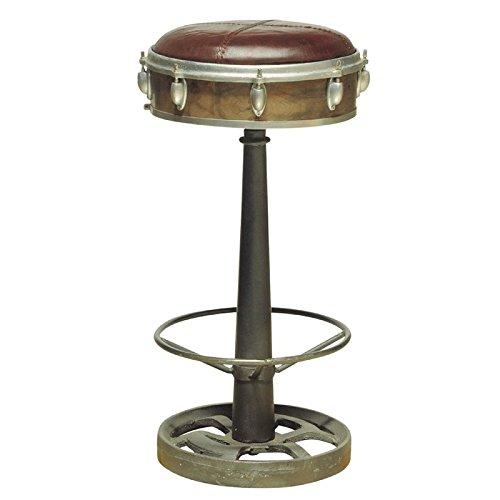 (Pulaski DS-P006042 Drum Inspired Wright Leather Barstool)