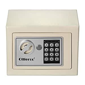 Ollieroo white 0 3cf security safe electronic for Small safe box for home
