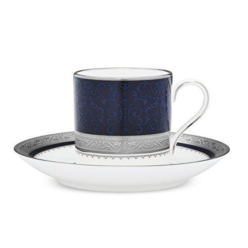 Noritake Odessa Cobalt Platinum Demitasse Cup & Saucer