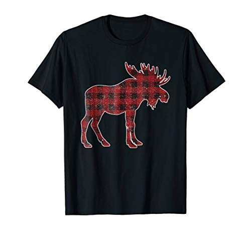 Moose Plaid Lumberjack Family Christmas Costume TShirt