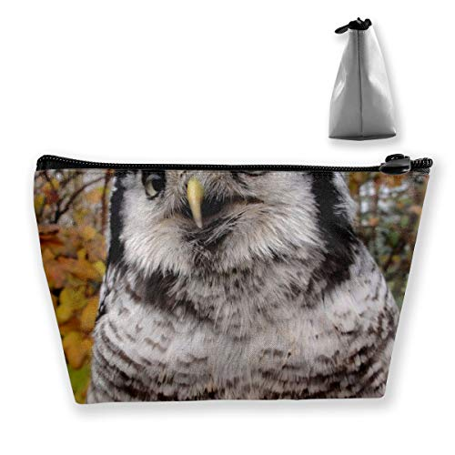 pengyong Northern Eagle Owl Makeup Bag Large Trapezoidal Storage Travel Bag Wash Cosmetic Pouch Pencil Holder Zipper Waterproof