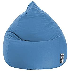 GOUCHEE Design Easy Collection Contemporary Polyester Microfiber Upholstered Bean Bag Chair, X-Large, Blue