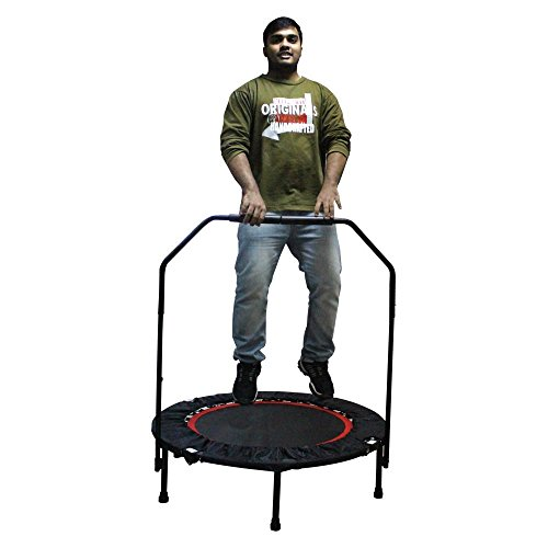 Ray Enterprises Rayhome 40 Inch Indoor Foldable Trampoline with Bar for 5+ Child,Fitness Trampoline for Adult (with bar)