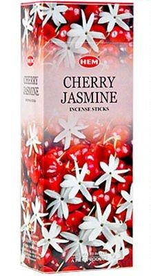 1 X Cherry Jasmine - Box of Six 20 Stick Tubes, 120 Sticks Total - HEM Incense ()